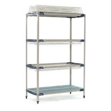 Metro PR48X3 MetroMax iQ 24 x 48 x 75-1/2 Stationary Drying Rack Unit