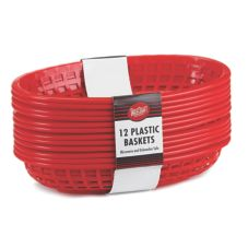 Tablecraft C1084R Red Oval Cash & Carry Jumbo Basket - 12 / PK