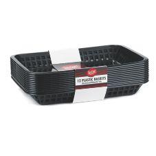 Tablecraft C1079BK Black 11.75 x 8.5 x 1.5 Mas Grande Basket - 12 / PK