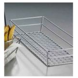 "American Metalcraft GCRC1362 Chrome 13"" Grid Rectangular Basket"