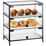 Cal-Mil 1735-1318 3 Door Countertop Display Case with Black Iron Trim