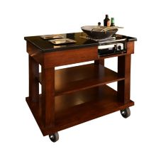 "Eastern Tabletop WT8014 Wood 34"" Flambe Cart"