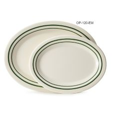 """G.E.T. OP-120-EM Emerald™ 12 x 9"""" Oval Platter - 12 / CS"""