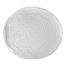 "J.B. Prince R1055 White 6.3"" x 5.75"" Small Tree Ring Plate"
