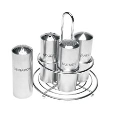 Service Ideas™ STOCFCR Stainless Steel Condiment Shaker Set