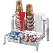 Cal-Mil 1594-74 Silver Soho Condiment and Cup Organizer
