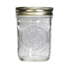 Ball® 60000 Glass 8 Oz. Mason Jars with Lids / Bands - 12 / CS