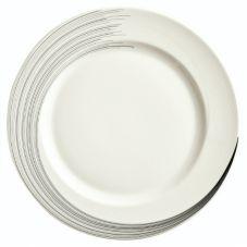 "Syracuse China 927659372 Silk 6-1/4"" Tracer Plate - 36 / CS"