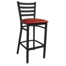 MKLD Commercial Furniture M841BS-BURGUNDY Ladder Back Metal Bar Stool