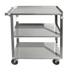 Update International BC-2415SS Stainless Steel 3-Tier Bus Cart