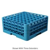Carlisle RG49-414 Carlisle Blue 49 Cmpt. Glass Rack with 4 Extenders
