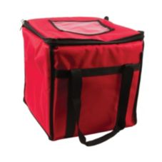 San Jamar FC1212-RD Red Medium Insulated Food and Pizza Carrier