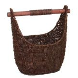 "Willow Specialties 8000925.0DB Oval 13"" Seagrass Tote with Handle"