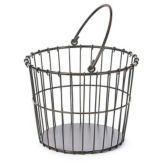 "Willow Specialties 8000911.12 Round 12"" Metal Utility Basket"