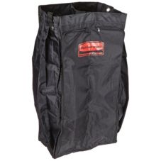Rubbermaid FG617600BLA Black Divided Laundry Bag With Lid