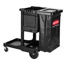 Rubbermaid® 1861430 Black Janitorial Cart With Locking Cabinet