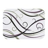 "Hoffmaster 905-FD377 Swirl 14"" x 19"" Paper Placemat - 1000 / CS"