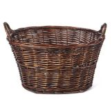 "Willow Specialties 811164 Oval 17"" Willow Mini Wash Basket"