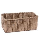 "Willow Specialties 83897GRY Rectangular 15.5"" Grey Paper Tub"