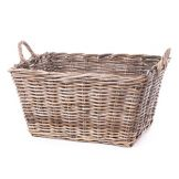 "Willow Specialties 9528 KooBoo 23"" Grey Rattan Storage Basket"