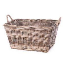 """Willow Specialties 9528 KooBoo 23"""" Grey Rattan Storage Basket"""