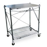 "Metro FWT243038 S/S Top 24"" x 30"" x 38"" Folding Work Table"