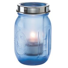 Hollowick® 1610SDBL Firefly™ Satin Dark Blue Tealight Jar