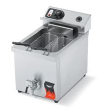 Vollrath 40709 Cayenne 208/240V 15 Lb. Countertop Fryer with Drain