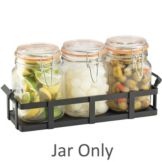 Cal-Mil C3336JAR Clear 34 Oz Jars for 3335-13 Rustic Condiment Display