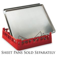 Vollrath 5266430 Signature Red Open End 3 Full Size Pan Bun Dishrack