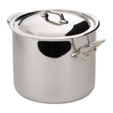 Mauviel 5232.25 M'Cook Stainless Steel 9.1 Qt. Stock Pot With Lid