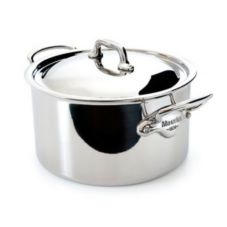 Mauviel 5231.25 M'Cook Stainless Steel 6.4 Qt. Stew Pot With Lid