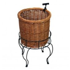 """Mobile Merchandisers K1726-S 26"""" Willow Basket Display / Stand Set"""