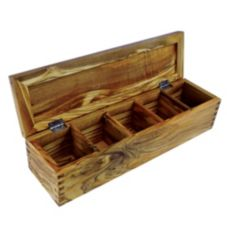 "Enrico 1311 Olive Wood 14.2"" x 3.9"" Spice Box"