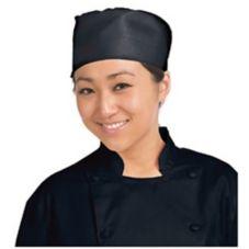 Chef Revival® H008-R Regular Black Pill Box Hat