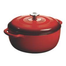 Lodge® Manufacturing EC7D43 Red Enameled 7.8 Qt. Dutch Oven