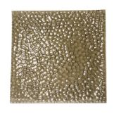 "Turgla 02-150-41TBRW Brown 16-1/2"" Square Pebble Plate - 3 / CS"