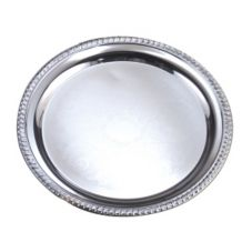 """American Metalcraft STRD214 Embossed Round 14"""" Serving Tray"""