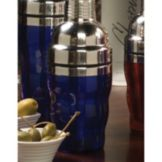 American Metalcraft BSJ10 Blue Acrylic / Stainless 10 Oz Cocktail Shaker