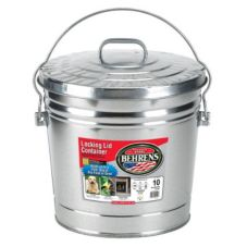 Behrens 6110 10 10 Gallon Galvanized Pail with Locking Lid