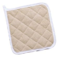 "Ritz® TPH8BE-2 Beige 8"" x 8"" Terry Pot Holder - Pair"