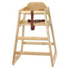 """Tablecraft 65 Natural Wood 20"""" x 19"""" x 26.75"""" High Chair"""