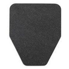 WizKid WOC-BK Black Anti-Microbial Original Cut Urinal Mat - 4 / BX
