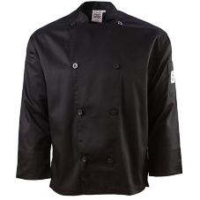 Chef Revival J200BK-3XL Performance 3XL Black Long Sleeve Chef Jacket