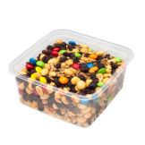 "Fabri-Kal 9509508 Clear 6"" Square Container - 300 / CS"