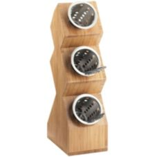 Cal-Mil 1016-3-60 Bamboo 3-Compartment Cylinder Display