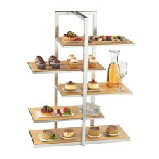 Cal-Mil 3304-60 One By One Multi-Level Bamboo Shelf Display
