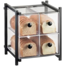 Cal-Mil 1146-13 One By One Black 4 Drawer Bread Case