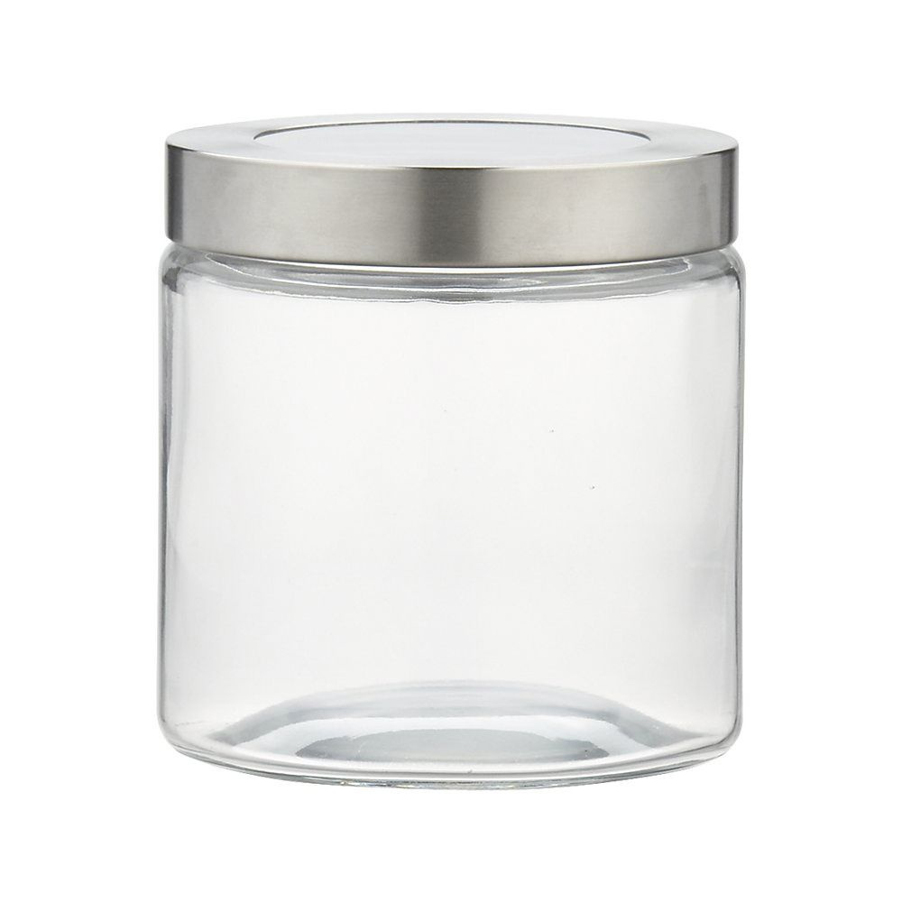 Crate And Barrel 507-660 Extra Small Glass Storage Jar with