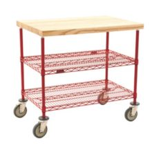 Eagle Foodservice Equipment DC2436R 3-Tier Maple Top Demo Cart